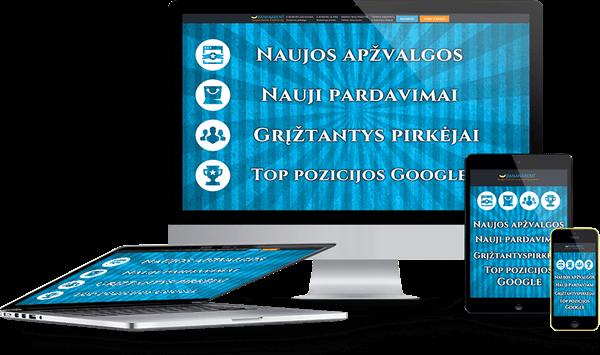 Elektroninių parduotuvių nuoma Bananarent Prokomercija - analogų Lietuvoje neturinti automatinė apžvalgų didinimo sistema.