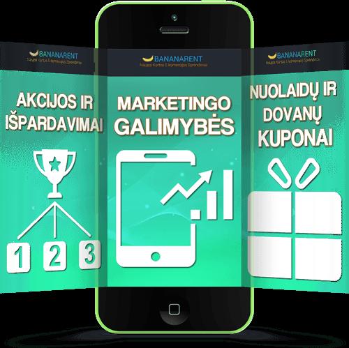 Interneto parduotuvių nuoma Bananarent Prokomercija - atrasite SMS marketingo galimybes, kurias naudoja tik didžiausi šulai rinkoje.
